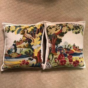 Anthropologie Needlepoint Pillows